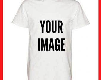 10 Custom DTG printed personalised t-shirt, your logo or design, stag or hen parties