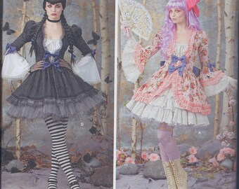 Simplicity 1300 Misses Lolita Fantasy Cos Play Costume UNCUT Sewing Pattern