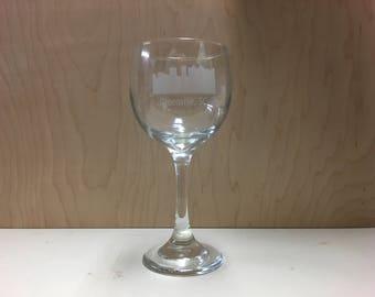 Laser Engraved Greenville Wine Glass Set