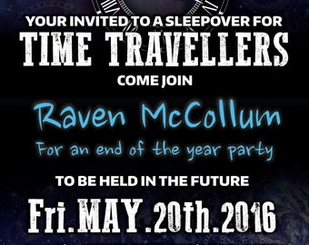 Time Travelers Dr. who fans Sleepover - Printable Birthday Invitation