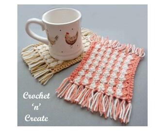 Crochet Mug Rug Crochet Pattern (DOWNLOAD) CNC124