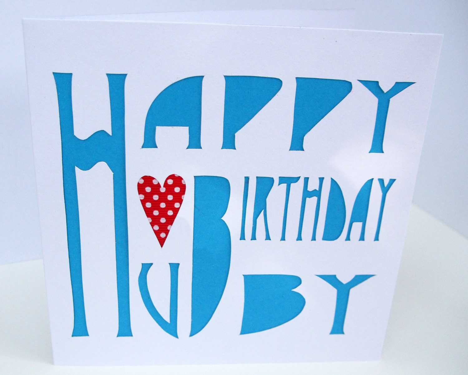 Birthday card for a husband hubby card handmade greeting zoom kristyandbryce Images