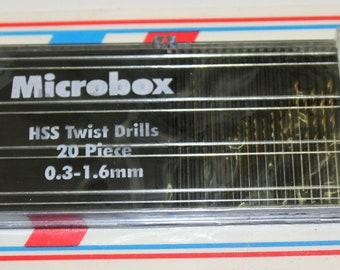 """20 Piece Mini Drill Bit Set W/1/8"""" Chuck"""