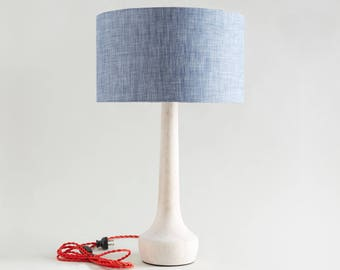 Tall Table Lamp   MCM Style Lamp   White Lamp   Office Lamp   Midcentury  Modern