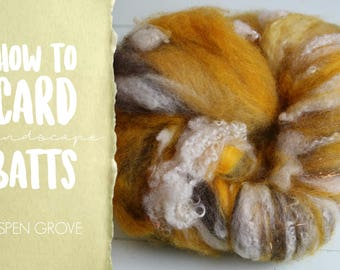 How to Card ASPEN GROVE Art Batt on a Drum Carder - One Technique from Carding Landscapes Masterclass