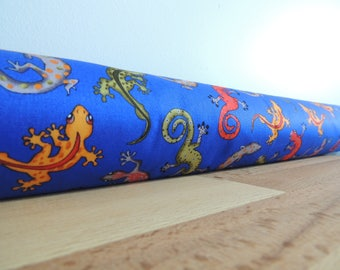 Draft Stopper. Boys room decor. Lizards. light blocker. room decor. Door or window snake. Draught excluder. House and home accessory.