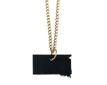 South Dakota Necklace -- Leather