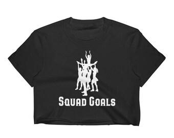 Cheerleading Squad Goals Women's Crop Top