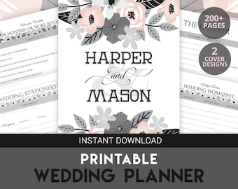 Printable Wedding Planner, Wedding Organizer, Wedding Budget Printable