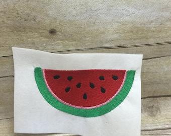 Watermelon Embroidery Design, Watermelon Slice Embridery Design