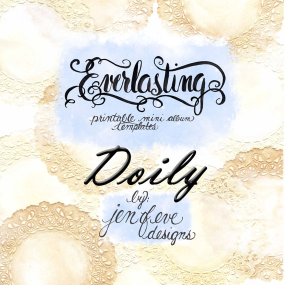 Everlasting Printable Mini album Template in Doily and PLAIN