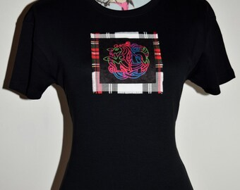 Celtic T-shirt - Celtic Horse - custom made t-shirt- Celtic Knot - Tartan Clothing - Made in Scotland