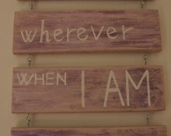 Gift Idea/Paintings with writings/phrases on wood/love phrases/wooden writings/wooden decorations/plaques/home decor/home is...