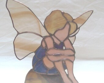 Stained glass Fairy - blue