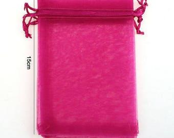 Packaging 25 pretty pink organza 10x15cm Pocket - pink