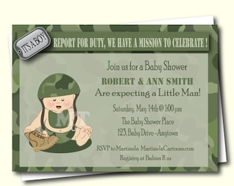 Camo baby shower etsy camo baby shower invitation camouflage baby shower invite army baby shower boy couple filmwisefo Gallery