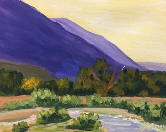 "Original Acrylic Painting, ""Embudo, NM"", 11""x14"""