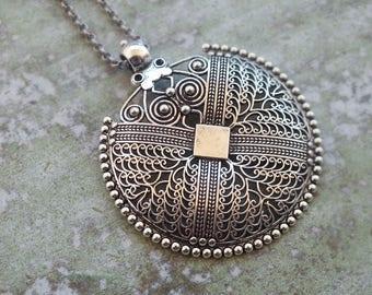 Boho Necklace Bohemian necklace Long Necklace Boho Necklace Pendant Necklace Silver long necklace Antique Silver