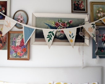 Personalized Bunting Flags | Garland | Boho style