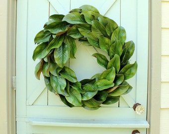 Magnolia Wreath ~ Fixer Upper Decor ~ Spring Wreath ~ Year Round Wreath ~ Wedding Decor ~ Farmhouse Wreath ~ Modern Farmhouse Decor