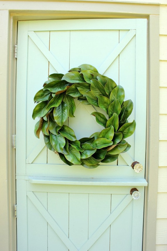 Magnolia Wreath Fixer Upper Decor Spring Wreath Year