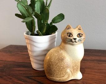 Free shipping Lisa Larson Swedish Signed Cat Sculpture