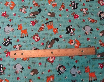 Blue Be Who You WERE Created To Be Woodland Animal Henry Glass Cotton Fabric by the Yard