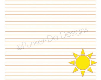 INSTANT DOWNLOAD Sun 7 page Paper Pack
