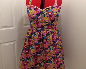 Pin-up Style Dress, Pop Culture Dress, Comic Strip, Star Trek, Doctor Who, Adventure time, Batman, Vintage Style Dress