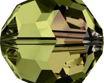 Swarovski Crystal Round Beads 5000 - 3mm 4mm 5mm 6mm 8mm 10mm - Olivine AB
