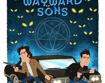 Supernatural Art Print - Carry On, Wayward Son