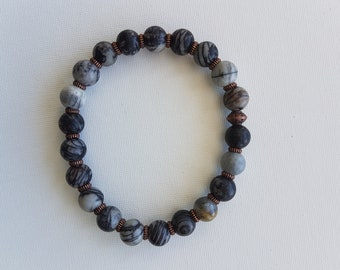 Men's healing bracelet stretchy beaded bracelet NZ00029