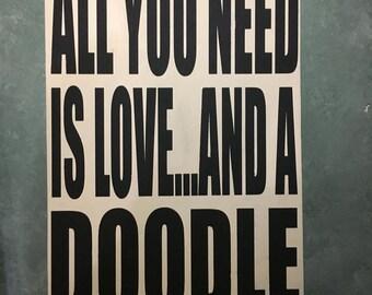 Goldendoodle Wood Sign, Labradoodle Wood Sign, Labradoodle Art, Bernedoodle, Goldendoodle Art, Goldendoodle Wall Art, Doodle Art, Doodle