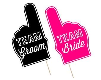 Printable Wedding Photo Booth Props . Team Groom/Bride . Wedding . Bachelor/Bachelorette . Bridal Shower . Hot Pink . Instant Download