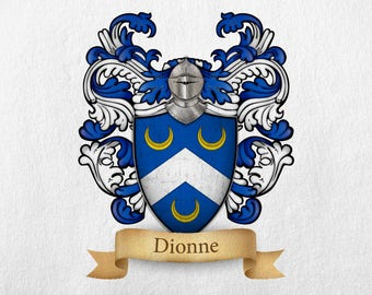 Dionne Family Crest - Print