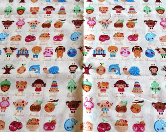 Fabric coupon 50 x 70 cm emoticons