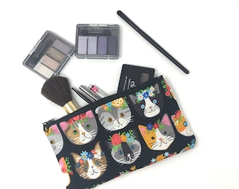 Cosmetic Bag, Makeup Brush Holder, Make-up Bag, Makeup Bag, Pencil Case, Makeup Organizer, Makeup Organizers, Zipper Pouch, Cat, Cats, Lover