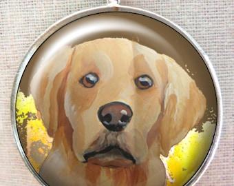 Golden Retriever Keychain ~ Dad Gift ~ April Birthday ~ Dog Keychain ~ Golden Retriever Portrait