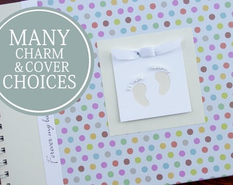 Pregnancy Album | Pregnancy Gift | Pregnancy Book | Pregnancy Planner | Personalized Pregnancy Memory Book | Pastel Polka Dots