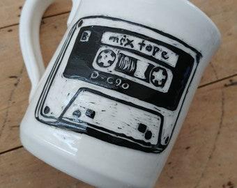 Mix Tape Ceramic Mug