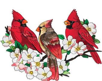 Cardinals In DogWood Tree Cross Stitch Pattern***LOOK***