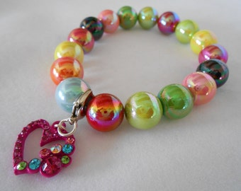 80's Colors Beaded Bracelet