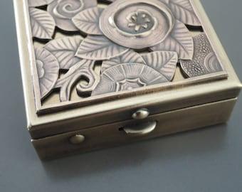 Art Deco Wedding Ring Holder Box -  Vintage Ring Dish - Vintage Ring Box - Art Deco Ring Box  - Wedding Ring Box - Art Deco Ring Box