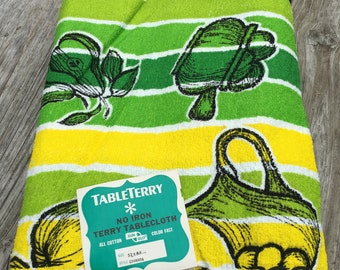 Vintage Terry Tablecloth