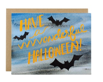 Halloween Card - Happy Halloween Card - Have A Vvvvonderful Halloween