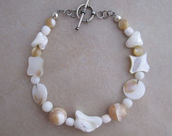 mother of pearl bracelet shell sterling silver
