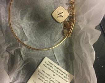 M initial bracelet