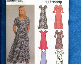 Simplicity 5189 Princess Seam Flared Dresses Size 8 to 14 UNCUT
