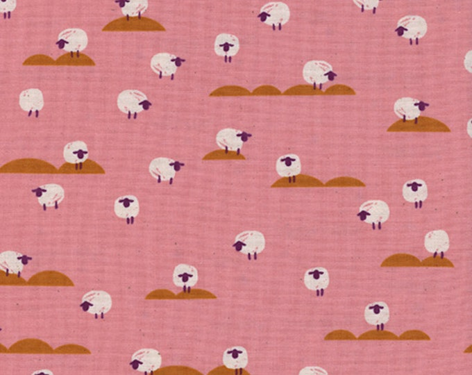 PRESALE: Sheep (coral) from Panorama Sunrise by Melody Miller and Sarah Watts for Cotton + Steel