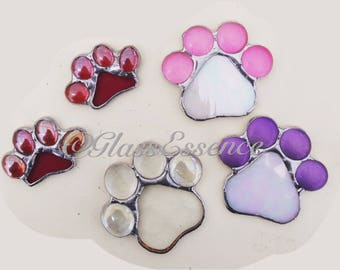Stained glass cats paw pads